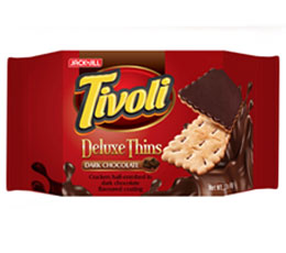 Tivoli Deluxe Thins Dark Chocolate