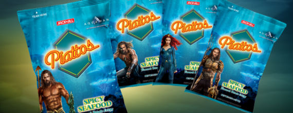 Taste the latest catch with the new limited-edition Piattos Aquaman packs