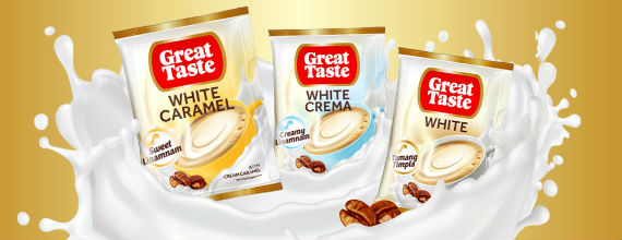 Sip a cup of great coffee with Great Taste White's new flavors